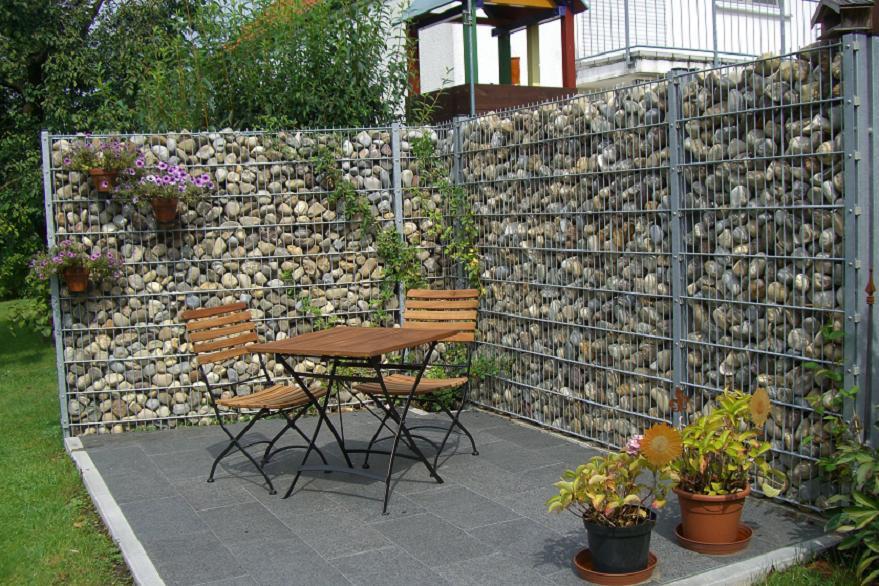 Encaps steinzaun sichtschutz sichtschutz 3 - Garten sichtschutz metall ...